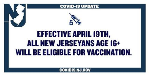 Vaccine Eligibility as of April 19th